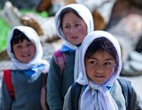 Enfants de Balti dans Ladakh, Inde Images stock
