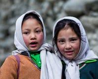 Enfants de Balti dans Ladakh, Inde Photo libre de droits