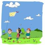 Enfants de bande dessinée Photo stock