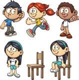 Enfants de bande dessinée illustration stock
