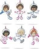 Enfants de bande dessinée d'astronaute illustration stock