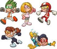 Enfants de bande dessinée de l'avenir illustration libre de droits