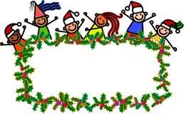 Enfants de bannière de Noël illustration libre de droits