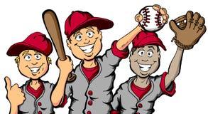 Enfants de base-ball Photos stock