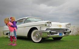 Enfants de Cadillac d'Américain Photographie stock libre de droits