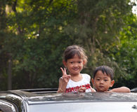 Enfants de Camdodian Photographie stock