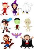 Enfants de collection avec le costume de Halloween Image stock