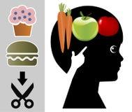 Enfants de enseignement pour aimer la nourriture biologique illustration libre de droits