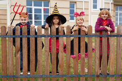 Enfants de Halloween Photo libre de droits