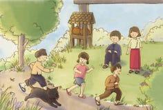 Enfants de jeu de l'Asie illustration stock