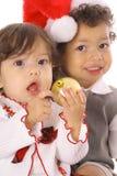 Enfants de Joyeux Noël Photographie stock libre de droits