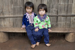 Enfants de l'Asie, groupe ethnique Meo, Hmong Photo stock