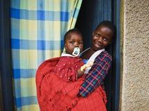 Enfants de l'Ouganda Images libres de droits