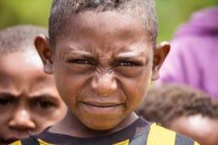 Enfants de la Papouasie nouveau Gunea Photos libres de droits