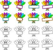 Enfants de la Turquie de thanksgiving avec des signes Photos stock