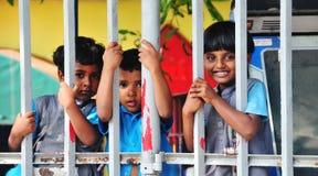 Enfants de Lankan dans l'école de jardin d'enfants Image libre de droits
