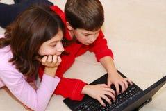 Enfants de mêmes parents Image libre de droits