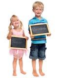 Enfants de mêmes parents adorables mignons dans le studio image libre de droits