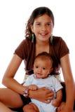 Enfants de mêmes parents Biracial Image libre de droits