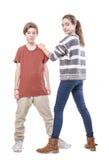 Enfants de mêmes parents d'adolescent Image libre de droits