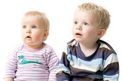 Enfants de mêmes parents de frère et de soeur Photographie stock