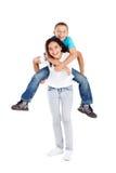 Enfants de mêmes parents espiègles Photographie stock libre de droits