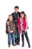 Enfants de mêmes parents heureux Photographie stock