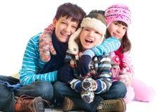 enfants de mêmes parents heureux Photos stock
