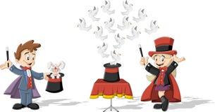 Enfants de magicien de bande dessinée illustration stock