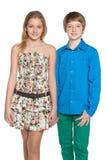 Enfants de marche de mode Image libre de droits