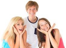 Enfants de mêmes parents heureux Photos libres de droits