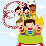 Enfants de montagnes russes Image libre de droits
