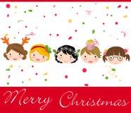 Enfants de Noël Image stock