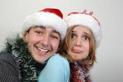 Enfants de Noël Photos libres de droits