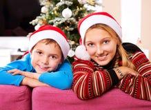 Enfants de Noël Photographie stock libre de droits