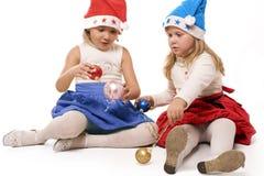 Enfants de Noël Photos stock