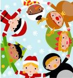 Enfants de Noël Photo libre de droits
