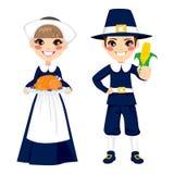Enfants de pèlerin de thanksgiving Images stock