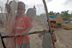 Enfants de pêcheur Photographie stock libre de droits