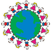 Enfants de paix du monde Photographie stock libre de droits