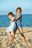 Enfants de plage d'été Image libre de droits