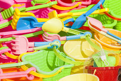 Enfants de plage de jouets Image stock