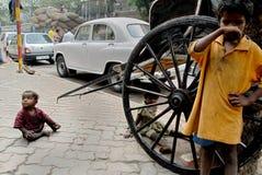 Enfants de rue en Inde Image libre de droits
