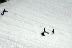 Enfants de Sledging Photos stock