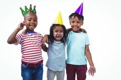 Enfants de sourire appréciant une partie Image stock