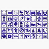 Enfants de symbole de Web d'icône de logo de collection de bébé illustration libre de droits