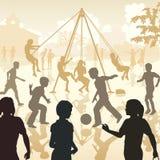 Enfants de terrain de jeu Images stock