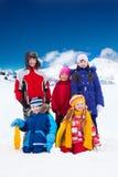 Enfants dehors le jour d'hiver Image stock