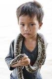 Enfants des gens de bateau Photos libres de droits