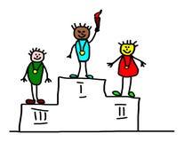 Enfants dessinant - champions olympiques Photographie stock libre de droits